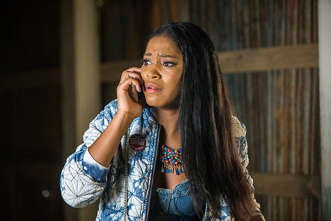 Keke Palmer as Zayday looking worried in Scream Queens, Season 1