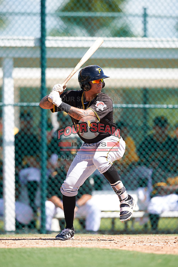 Pittsburgh Pirates Stephen Alemais (13) during an Instructional League Intrasquad Black & Gold game on September 20, 2016 at Pirate City in Bradenton, Florida.  (Mike Janes/Four Seam Images)
