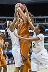 guard Brianna Taylor (20) and guard Niya Johnson (2) in action during Big 12 women's basketball championship final, Sunday, March 08, 2015 in Dallas, Tex. (Dan Wozniak/TFV Media via AP Images)