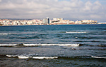 Waves of Mediterranean Sea, Melilla autonomous city state Spanish territory in north Africa, Spain