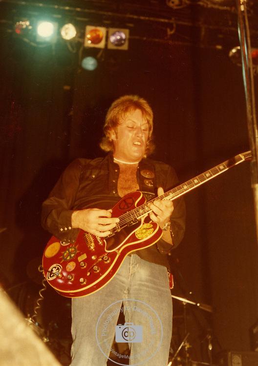 ALVIN LEE live in New York City 1982.<br /> Photo Credit : David Plastik/Retna