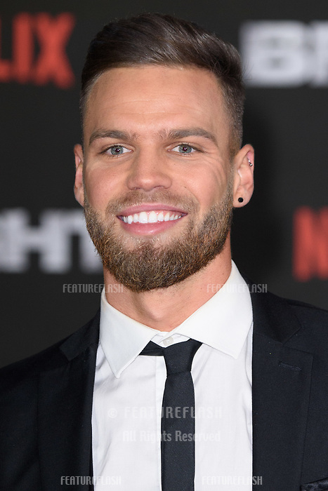 Jonny Mitchell at the European premiere for &quot;Bright&quot; European premiere at the BFI South Bank, London, UK. <br /> 15 December  2017<br /> Picture: Steve Vas/Featureflash/SilverHub 0208 004 5359 sales@silverhubmedia.com