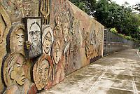 The Monumento a la Memoria y la Verdad or Monument to Memory and Truth in Parque Cuscatlan, San Salvador, El Salvador