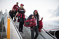 Dallas, TX - March 28, 2017: The Stanford Cardinal prepares for the Final Four 2017 in Dallas, Texas