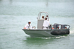 NAVY DAY<br /> <br /> Mexican military representatives in small watercraft. <br /> The occasion is a cause for pride in the Mexican navy. (1)