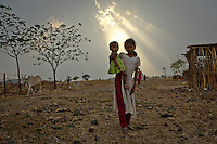 Daily life in the Karanwadi village in the Yavatmal district in the central Indian state of Maharashtra on the 24th of march 2011.