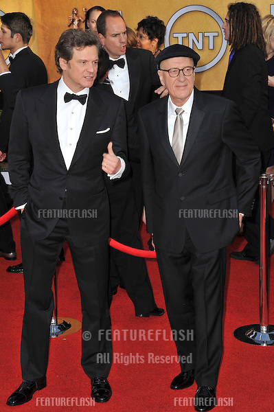 Colin Firth & Geoffrey Rush (right) at the 17th Annual Screen Actors Guild Awards at the Shrine Auditorium..January 30, 2011  Los Angeles, CA.Picture: Paul Smith / Featureflash