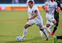 13th July 2020, Orlando, Florida, USA;  Los Angeles Galaxy forward Javier Hernandez (14)runs with the ball during the MLS Is Back Tournament between the LA Galaxy versus Portland Timbers on July 13, 2020 at the ESPN Wide World of Sports, Orlando FL.