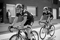 Bernie Eisel (AUT) escorting Bradley Wiggins (GBR)<br /> <br /> Eneco Tour 2013<br /> stage 1: Koksijde - Ardooie (175km)