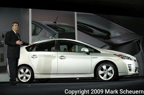 12 January 2009: The 2010 Toyota Prius debut at the 2009 North American International Auto Show in Detroit Michigan USA