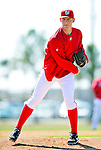 28 February 2010: Washington Nationals pitcher Stephen Strasburg takes infield drills during Spring Training at the Carl Barger Baseball Complex in Viera, Florida. Mandatory Credit: Ed Wolfstein Photo
