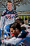Connor Fields (with the head phones) and team mates having fun between runs, US Olympic Training Center in Chula Vista, CA