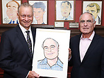 Max Klimavicius and Todd Haimes attends the Todd Haimes' Sardi's Caricature Unveiling at Sardi's  on June 7, 2017 in New York City.
