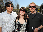 From left: Jason Mendoza, Sharon Siehl and Lukasz Maslanka at the Beastly Brunch at the Houston Zoo Sunday Feb. 28,2010. (Dave Rossman Photo)