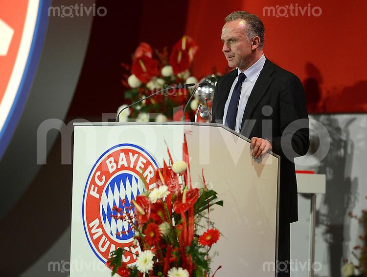 FUSSBALL   1. BUNDESLIGA  SAISON 2012/2013    Jahreshauptversammlung beim FC Bayern Muenchen   15.11.2012 Vorstandsvorsitzender Karl Heinz Rummenigge