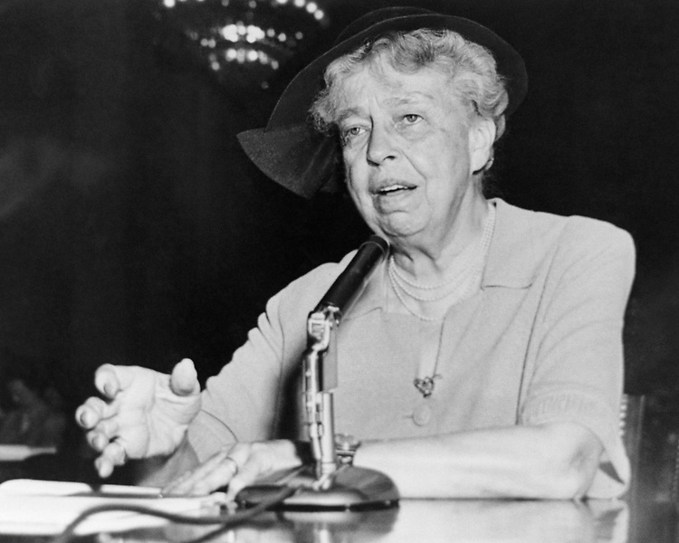 Portrait of Former President Eleanor Roosevelt in the Library of Congress collection. (Photo by CQ Roll Call via Getty Images)
