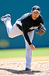 18 March 2007: Florida Marlins pitcher Anibal Sanchez in action against the Washington Nationals at Space Coast Stadium in Viera, Florida...Mandatory Photo Credit: Ed Wolfstein Photo