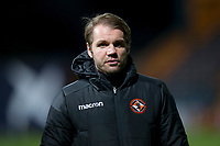 8th November 2019; Dens Park, Dundee, Scotland; Scottish Championship Football, Dundee Football Club versus Dundee United; Dundee United manager Robbie Neilson inspects the pitch before the match - Editorial Use