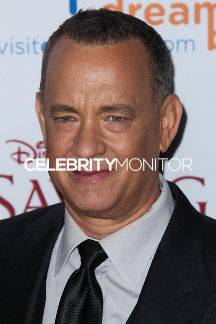 "BURBANK, CA - DECEMBER 09: Tom Hanks arriving at the U.S. Premiere Of Disney's ""Saving Mr. Banks"" held at Walt Disney Studios on December 9, 2013 in Burbank, California. (Photo by Xavier Collin/Celebrity Monitor)"