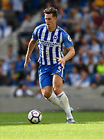 Brighton &amp; Hove Albion's Lewis Dunk<br /> <br /> Brighton 3 - 1 West Bromwich Albion<br /> <br /> Photographer David Horton/CameraSport<br /> <br /> The Premier League - Brighton and Hove Albion v West Bromwich Albion - Saturday 9th September 2017 - The Amex Stadium - Brighton<br /> <br /> World Copyright &copy; 2017 CameraSport. All rights reserved. 43 Linden Ave. Countesthorpe. Leicester. England. LE8 5PG - Tel: +44 (0) 116 277 4147 - admin@camerasport.com - www.camerasport.com