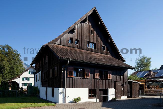 Haus Nr. 73 für die Kulturkommission von Ruggell fotografiert, Liechtenstein. Foto: Paul Trummer / Mauren.