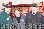 TRASHERS: Connie Leen (Lixnaw), Jack Condon (Abbeydorney) and Michael McKenna(Firies) given a demo on trashing at the Abbeydorney Ploughing competion on Sunday............. ....