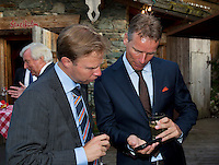 Austria, Kitzbuhel, Juli 15, 2015, Tennis, Davis Cup, Dutch team, Official dinner, Captain Jan Siemerink and Erik Poel (L)<br /> Photo: Tennisimages/Henk Koster