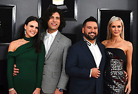 Abby Law, from left, Dan Smyers, Shay Mooney, and Hannah Mooney arrive at the 61st annual Grammy Awards at the Staples Center on Sunday, Feb. 10, 2019, in Los Angeles. (Photo by Jordan Strauss/Invision/AP)