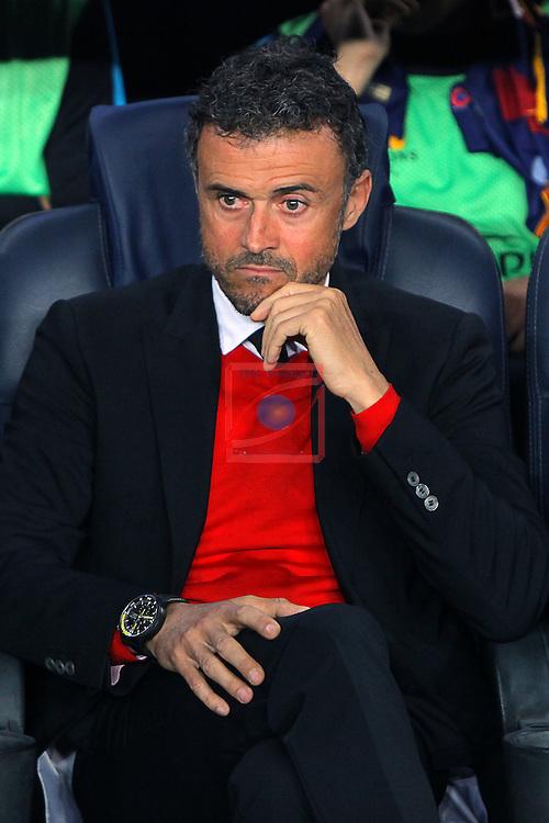 UEFA Champions League 2015-2016. Matchday 4.<br /> FC Barcelona vs FC BATE Borisov: 3-0.<br /> Luis Enrique.