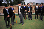 Knighthood of the Old Green, annual bowling competition at the Worlds Oldest Bowling Club Southampton Hampshire England