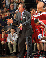 North Carolina State head coach Mark Gottfried during the game Jan. 7, 2015, in Charlottesville, Va. Virginia defeated NC State  61-51.
