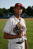 July 27, 2009:  Pitcher Jose Urena of the Mahoning Valley Scrappers during a game at Dwyer Stadium in Batavia, NY.  Mahoning Valley is the NY-Penn League Short-Season Class-A affiliate of the Cleveland Indians.  Photo By Mike Janes/Four Seam Images