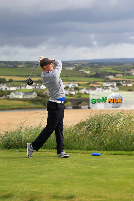 Eanna Griffin (Waterford) on the 9th tee during Round 2 of The South of Ireland in Lahinch Golf Club on Sunday 27th July 2014.<br /> Picture:  Thos Caffrey / www.golffile.ie