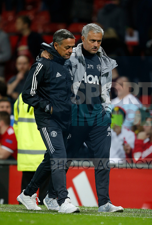 Jose Mourinho manager of Manchester United during the Carabao Cup Third Round match at the Old Trafford Stadium, Manchester. Picture date 20th September 2017. Picture credit should read: Simon Bellis/Sportimage