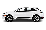 Car driver side profile view of a 2018 Porsche Macan Base 5 Door SUV