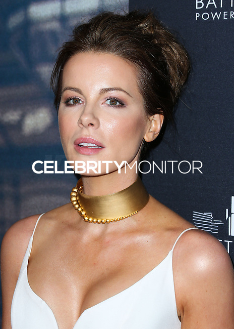 WEST HOLLYWOOD, CA, USA - NOVEMBER 06: Kate Beckinsale arrives at the Battersea Power Station Global Launch Party held at on November 6, 2014 in West Hollywood, California, United States. (Photo by Xavier Collin/Celebrity Monitor)