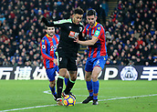 9th December 2017, Selhurst Park, London, England; EPL Premier League football, Crystal Palace versus Bournemouth; Joshua King of Bournemouth is tackled by Scott Dann of Crystal Palace