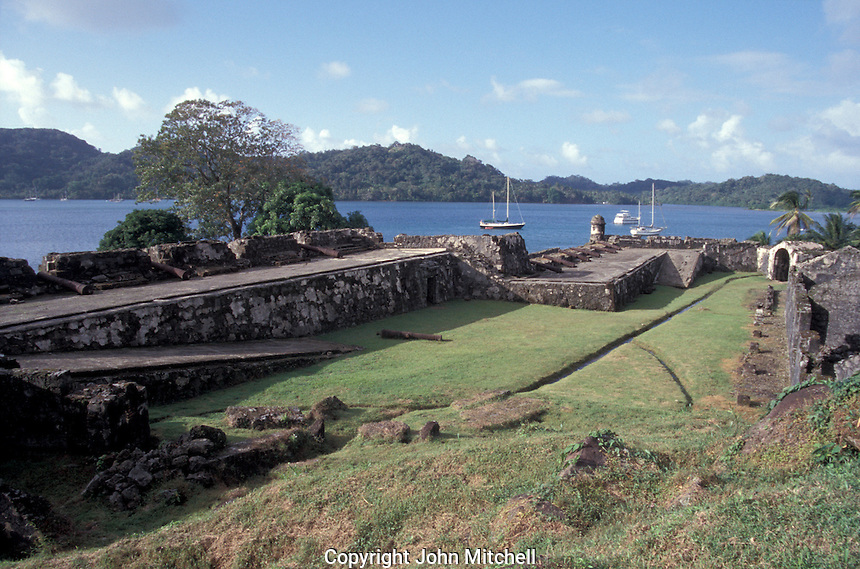 Fuerte Santiago, an 18th-century Spanish fort at Portobelo on the Cariibbean coast of Panama