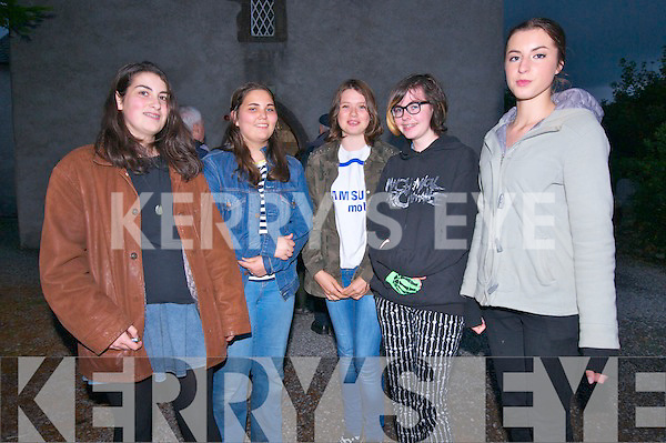 Ralf and Mimi Juillet, Kayla O'Mahoney, Cathy Lenihan and Niamh Herkommer (Ventry) at 'The World Stands Still', an evening of short plays and songs in support of Cúan Counselling at St. James Church in Dingle on Saturday night.