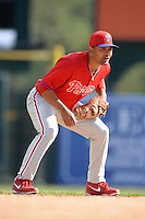 Philadelphia Phillies shortstop Andres Blanco (66) during a spring training game against the Baltimore Orioles on March 7, 2014 at Ed Smith Stadium in Sarasota, Florida.  Baltimore defeated Philadelphia 15-4.  (Mike Janes/Four Seam Images)
