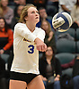 Jordan Osler #37 of Mattituck makes a set during her team's 3-0 win over East Rockaway in the girls volleyball Class C Long Island Championship at Farmingdale State College on Sunday, Nov. 11, 2018.