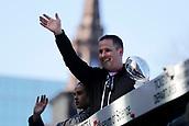 5th February 2019, Boston, Massachusetts, USA;  New England Patriots offensive coordinator / quarterbacks coach Josh McDaniels during the New England Patriots Super Bowl Victory Parade on February 5th 2019, through the streets of Boston, Massachusetts.