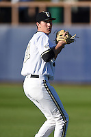 Vanderbilt Commodores pitcher John Kilichowski (21) throws in the outfield before a game against the Indiana State Sycamores on February 20, 2015 at Charlotte Sports Park in Port Charlotte, Florida.  Vanderbilt defeated Indiana State 3-2.  (Mike Janes/Four Seam Images)