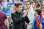 Atletico de Madrid's coach Diego Pablo Cholo Simeone during the match of La Liga Santander between Atletico de Madrid and Deportivo Alaves at Vicente Calderon Stadium. August 21, 2016. (ALTERPHOTOS/Rodrigo Jimenez)