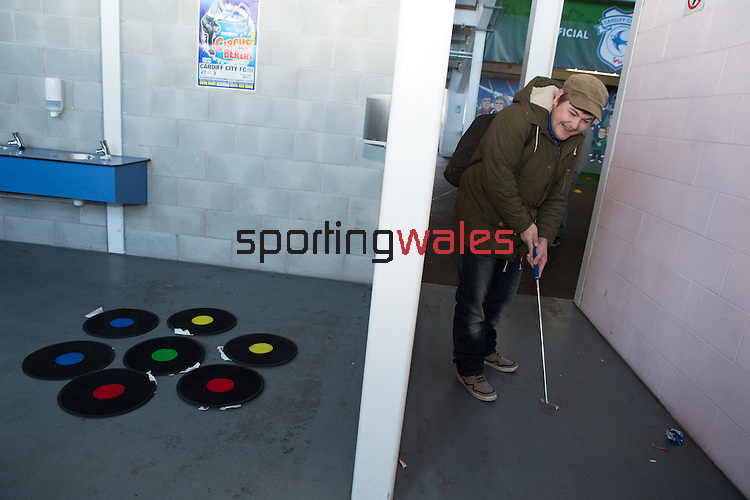 Golf Development Wales<br /> Street Golf at Cardiff City Stadium<br /> 06.04.16<br /> ©Steve Pope - Sportingwales