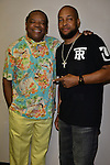 MIAMI, FL - MAY 29: John Witherspoon and Chad Thomas backstage at the 9th Annual Memorial Weekend Comedy Festival at James L Knight Center on May 29, 2016 in Miami, Florida. ( Photo by Johnny Louis / jlnphotography.com )