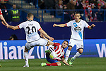 Atletico de Madrid´s Koke and Deportivo de la Coruna´s Faycal during 2015-16 La Liga match between Atletico de Madrid and Deportivo de la Coruna at Vicente Calderon stadium in Madrid, Spain. March 12, 2016. (ALTERPHOTOS/Victor Blanco)