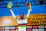 Alejandro Valverde (ESP) Movistar Team wins the 2018 Saitama Criterium, Japan. 4th November 2018.<br /> Picture: ASO/Pauline Ballet | Cyclefile<br /> <br /> <br /> All photos usage must carry mandatory copyright credit (&copy; Cyclefile | ASO/Pauline Ballet)