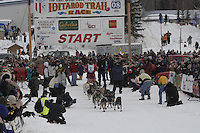 Lance Mackey Willow restart Iditarod 2008.