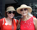 """Days of Our Lives Louise Sorel """"Vivian Alamain"""" &  One Life To Live's Linda Thorson """"Julia Medina"""" mom to Gabrielle (Fiona Hutchison) as they support Bring Back Our Girls by attending the vigil - 500 Days on August 27, 2015 at Church Center for the United Nations followed by a vigil at the Nigeria House, New York City, New York"""